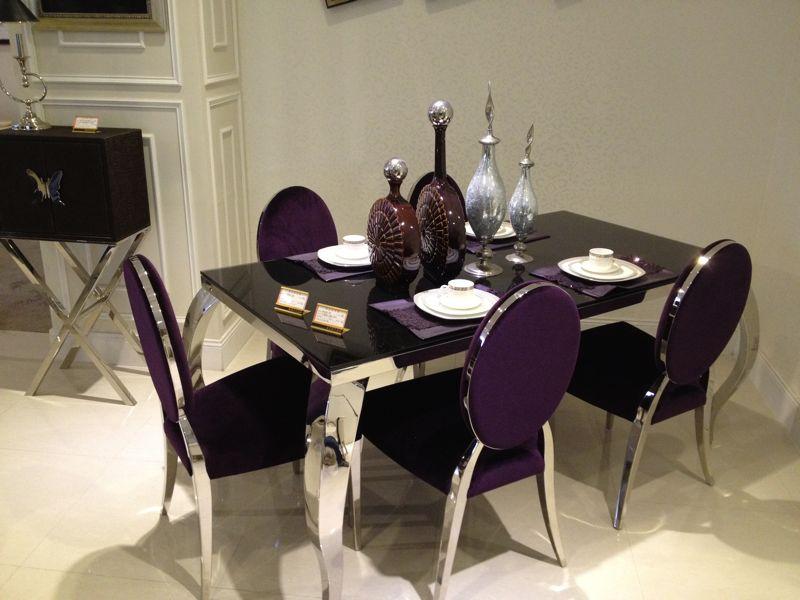 Purple Dining Room Set